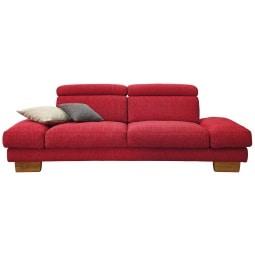 MONDO Sofa TEAM Stoffbezug Rot ca. 222 x 100 x 83 cm