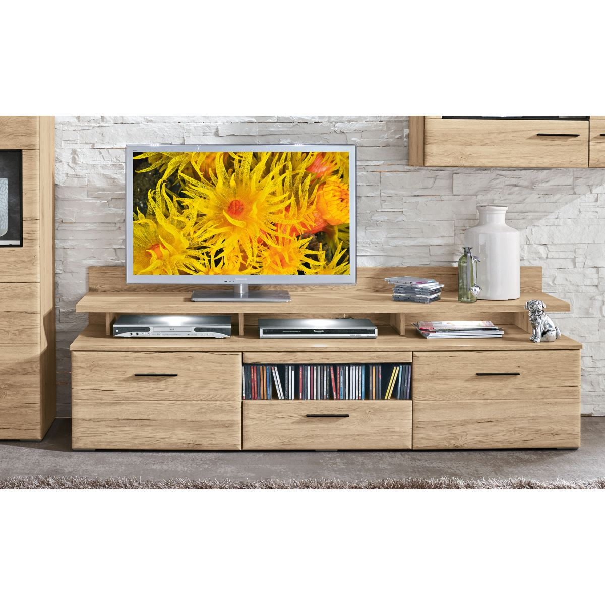 phill hill lowboard barry in san remo eiche sand optik porta. Black Bedroom Furniture Sets. Home Design Ideas