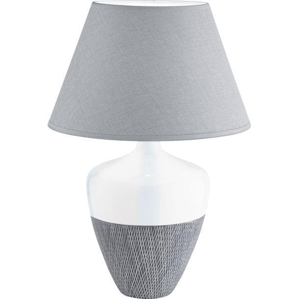 fischer honsel tischlampe 1 flg derby wei grau porta. Black Bedroom Furniture Sets. Home Design Ideas