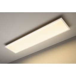 casaNOVA Smart Home CCT LED Deckenlampe Panel COLORES 120 x 30 cm Alu