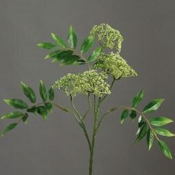 Kunstpflanze Deko-Zweig mit Knospen grün
