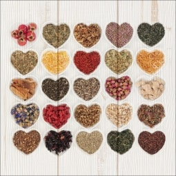 PRO ART Natural-Art Bild HERBAGE HEARTS 30 x 30 cm Holz mehrfarbig
