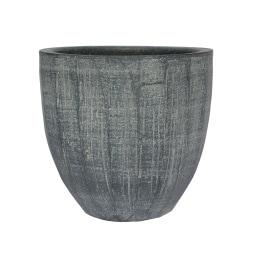 Blumentopf /Übertopf aus Keramik H 19 /Ø 21 RELIEF II Schiefergrau