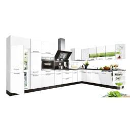 L-Küchenzeile FOCUS Weiß Lack Ultra-Hochglanz