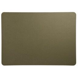 ASA Tischset /Platzset LEDER Olivgrün