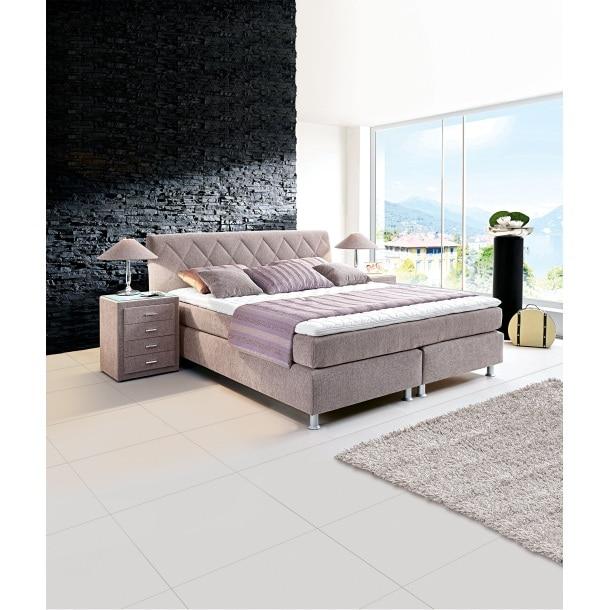 bugatti bett stoffbeug grau ca 180 x 200 cm taschenfederkern h3 porta. Black Bedroom Furniture Sets. Home Design Ideas