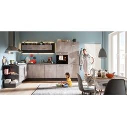 FAKTA Küchenzeile Beton Dekor matt/Grafit Dekor ca. 210 x 330 cm