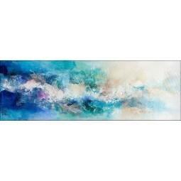 PRO ART Handpainting Bild TURQUOISE II 100 x 100 cm Leinwand mehrfarbig
