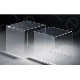 Zweisatztisch Acrylglas klar ca. 40 x 36 x 33 cm & 33 x 33 x 33 cm