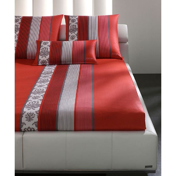 joop designer bettw sche ornament stripes mohn 135 x 200. Black Bedroom Furniture Sets. Home Design Ideas