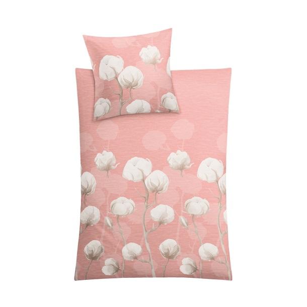 Kleine Wolke Mako Satin Bettwäsche Cotton 155 X 220 Cm Mehrfarbig Rosa