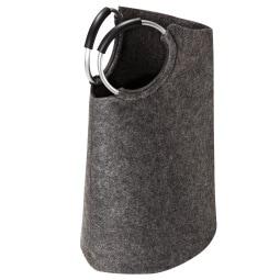 Wäschesack Filz grau/schwarz