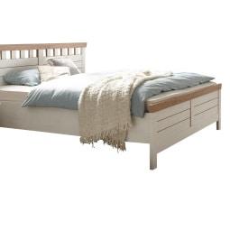 LIV'IN Bett BASEL 180 x 200 cm Holznachbildung weiß