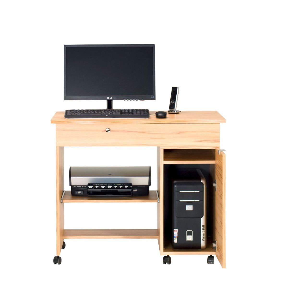 computertisch in kernbuche nachbildung | porta!, Gestaltungsideen