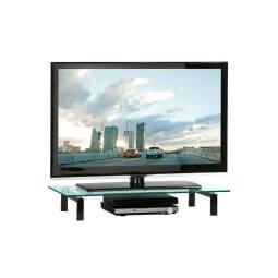 TV Board Metall Schwarz/Sicherheitsglas Ca. 82 X 13 X 35 Cm
