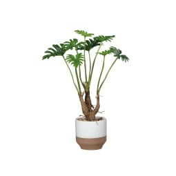 Kunstpflanze Philodendron in Keramikschale 46 cm