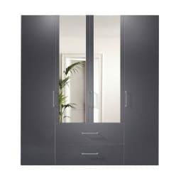 Kleiderschrank NEW JERSEY ADS-I 200 x 58 cm Graphit /Graphit/Spiegel