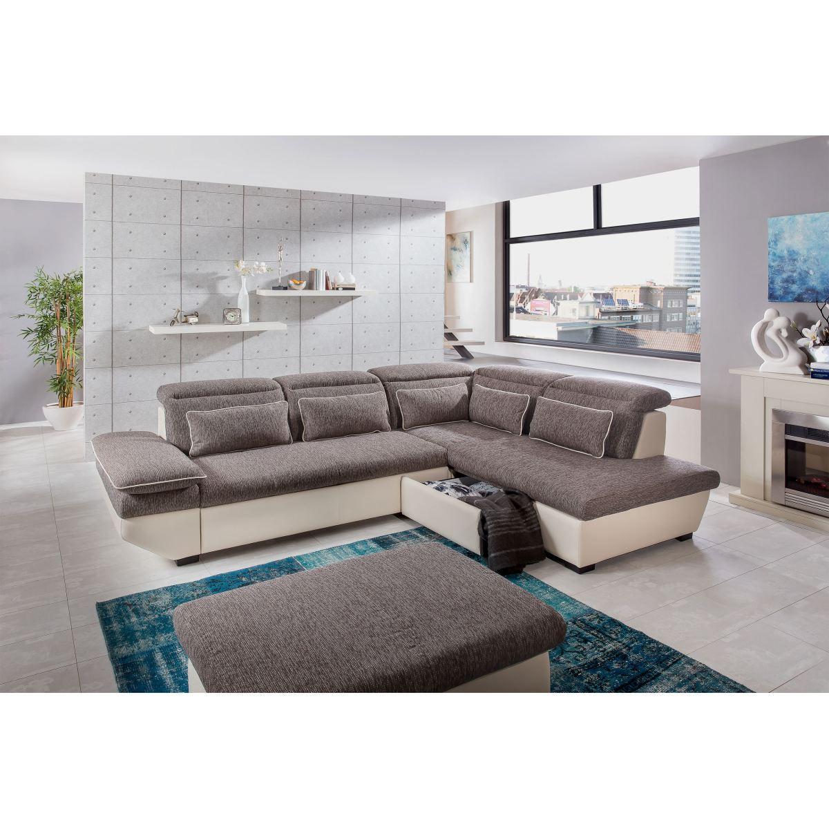 rundecke im lederlook in beige porta porta m bel. Black Bedroom Furniture Sets. Home Design Ideas