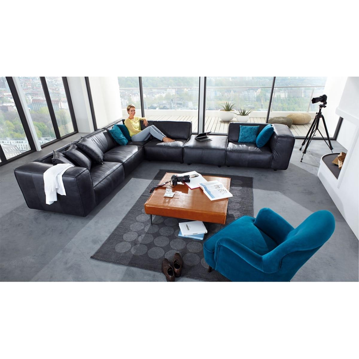 mondo polsterecke fauna lederbezug anthrazit ca 304 x 387 cm porta. Black Bedroom Furniture Sets. Home Design Ideas