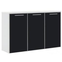 HAUKE HENDRIKS Hängeschuhkommode VENTINA 126 x 83 x 37 cm weiß/schwarz