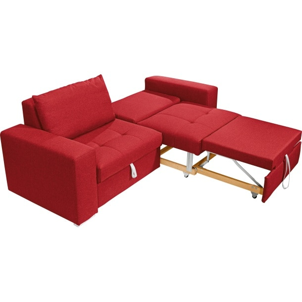 self schlafsofa semira stoffbezug rot ca 194 x 83 x 97 cm. Black Bedroom Furniture Sets. Home Design Ideas