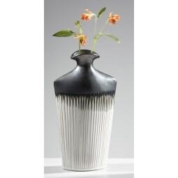 casaNOVA Vase COZY Xmas 35 cm Keramik grau/beige/anthrazit