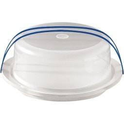 EMSA Tortenbehälter mit Haube TORTENBUTLER SUPERLINE Ø30 Weiß/Blau