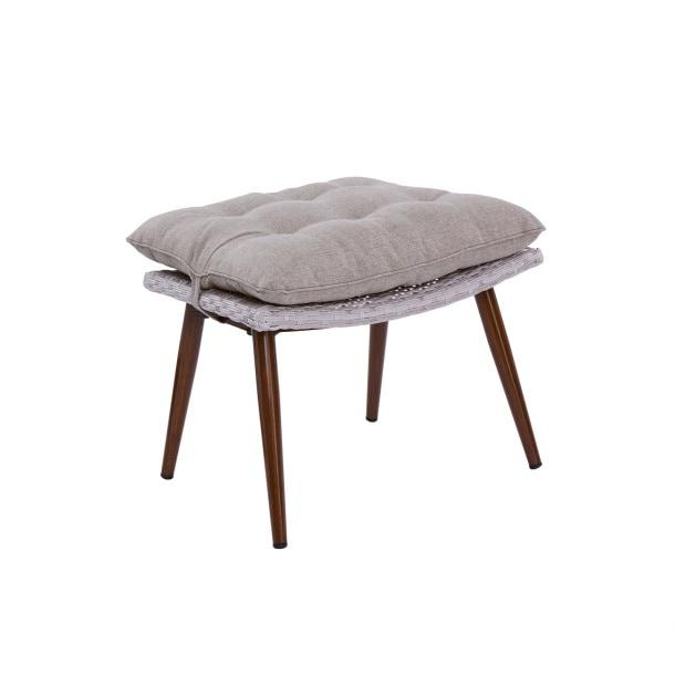 schaukelstuhl sessel mit hocker morea taupegraumix mit. Black Bedroom Furniture Sets. Home Design Ideas