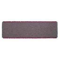 GÖZZE Fransentischläufer DAWSON 40 x 140 cm Lila/Rot