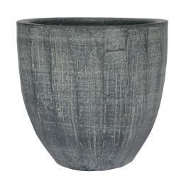 Blumentopf /Übertopf aus Keramik H 26 /Ø 29 RELIEF II Schiefergrau