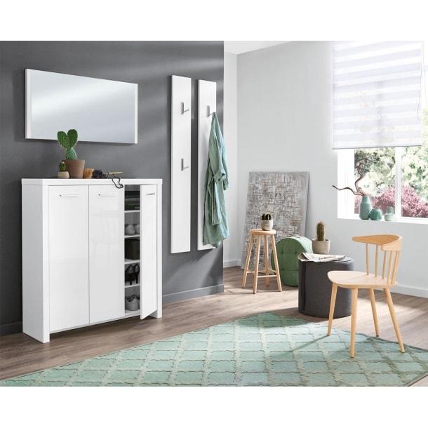 vito mehrzweckschrank space lack wei hochglanz ca 101 x 112 x 35 cm. Black Bedroom Furniture Sets. Home Design Ideas