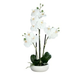 Kunstpflanze ORCHIDEE 36 cm creme