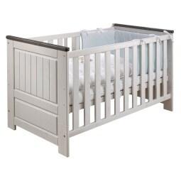Kinderbett 87 x 141 x 79 cm Massiv weiß