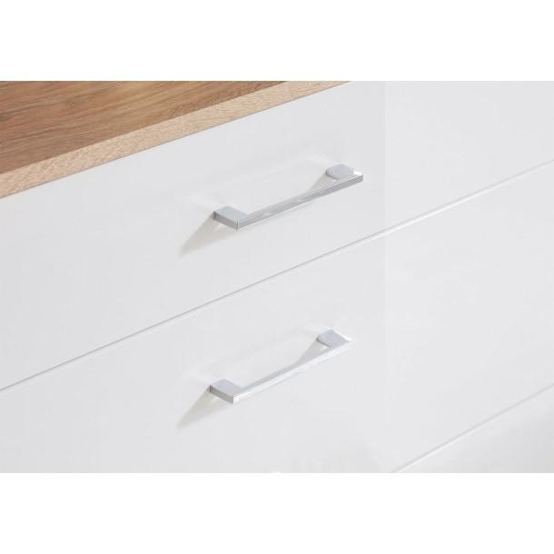vito Schuhschrank LOBBY MDF Sonoma Nachbildung Weiß Hochglanz  ca. 100 x 78 x 35 cmBild 3