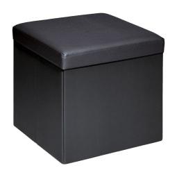 Sitzbox JONNY 37 x 37 cm Lederlook schwarz