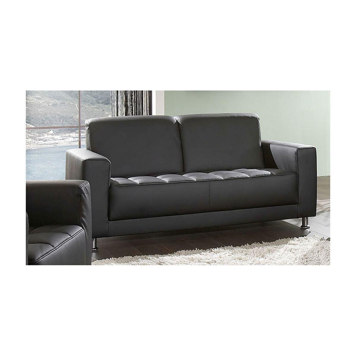 sofa alessandro lederlook schwarz porta. Black Bedroom Furniture Sets. Home Design Ideas