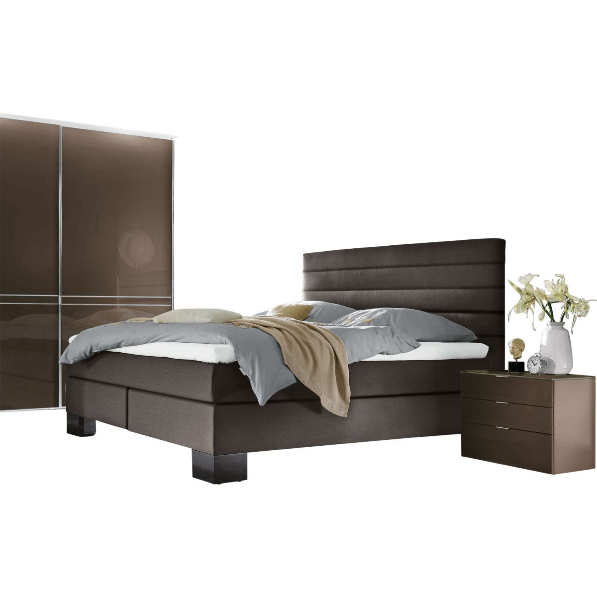 bett stoffbezug anthrazit porta m bel online kaufen. Black Bedroom Furniture Sets. Home Design Ideas