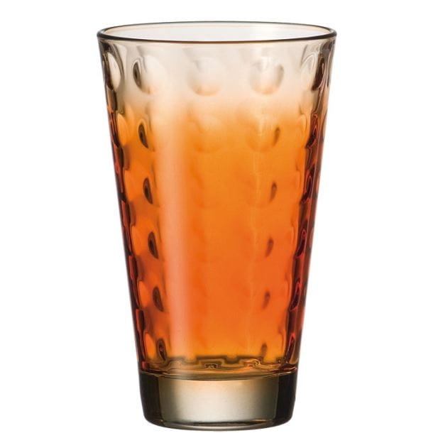 LEONARDO 6er Set Longdrinkglas OPTIC COLORI Orange Bild 1