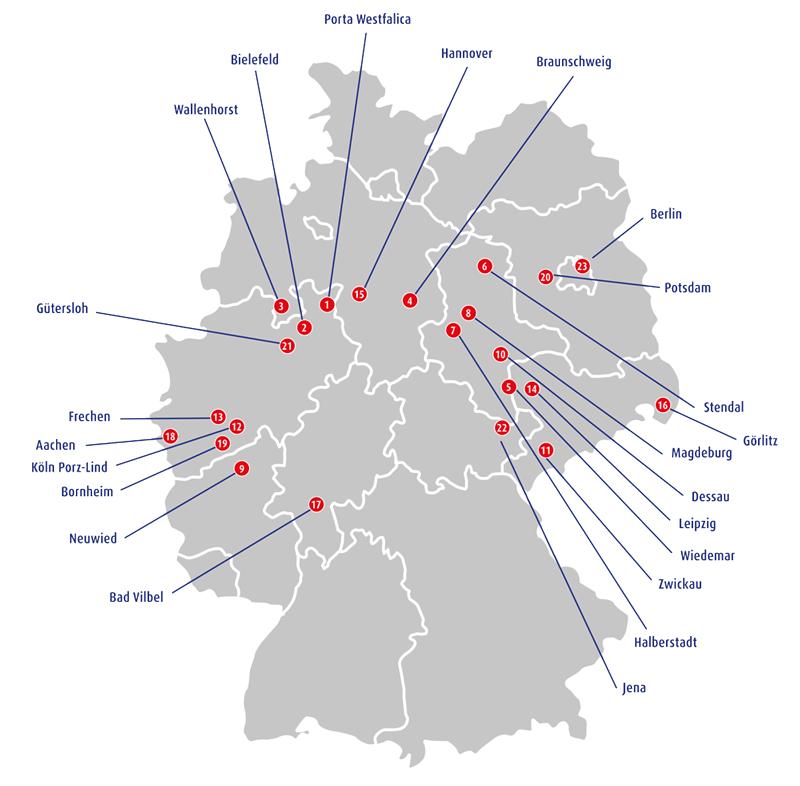 23x in Deutschland