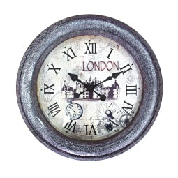 Phill Hill Uhr WOODEN Braun mit London-Motiv