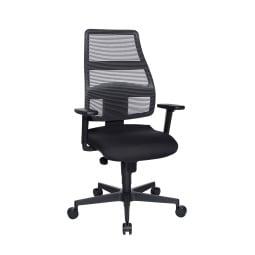 Schreibtischstuhl OTTAWA 48 x 48 cm Stoffbezug schwarz