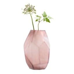 casaNOVA Vase WINTER MAGIC 24 cm Glas altrosa