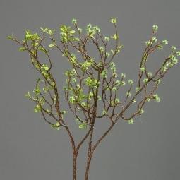 Kunstpflanze Deko-Zweig FRÜHJAHRSGRÜN
