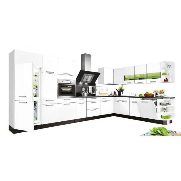 L-Küchenzeile FOCUS Weiß Lack Ultra-HochglanzBild 1