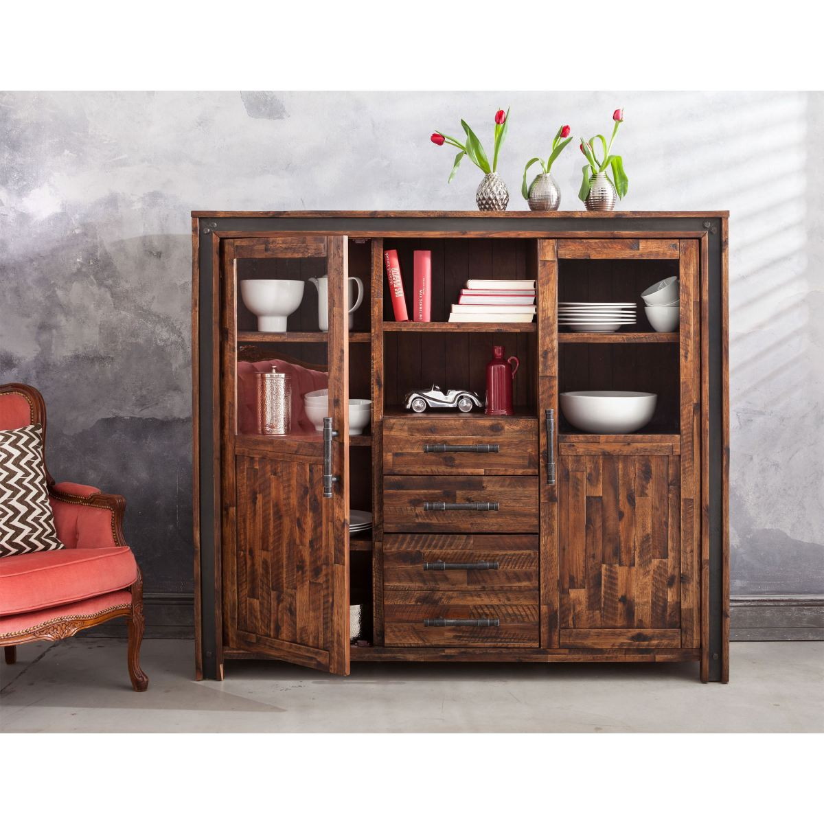 highboard road porta porta m bel online kaufen. Black Bedroom Furniture Sets. Home Design Ideas