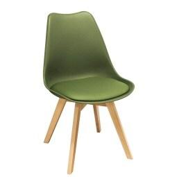 Stuhl JOREN Kunstleder grün