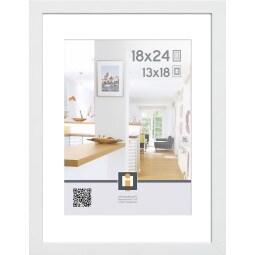 Bilderrahmen GÖTEBORG 18 x 24 cm Holz weiß