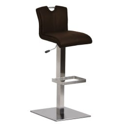 MONDO Bar-/Tresenhocker MOKA Lederlook Braun