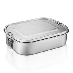GEFU Lunchbox ENDURE 22 x 16,5 cm silberfarbig