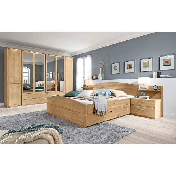 valmondo schlafzimmer trento eiche bianco massiv porta. Black Bedroom Furniture Sets. Home Design Ideas